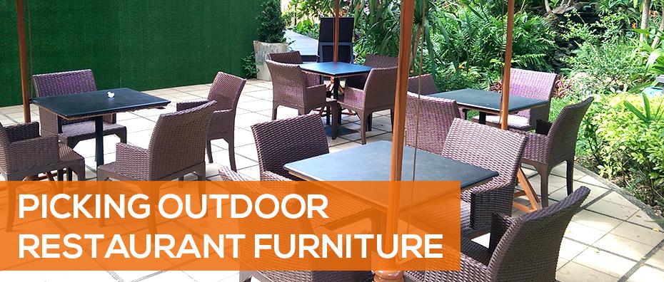 Picking Outdoor Restaurant Furniture 2020