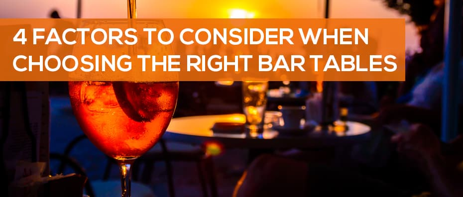 Right Bar Table