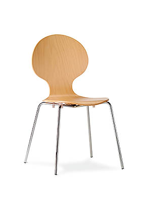 P1589S Stacking Side Restaurant Chair