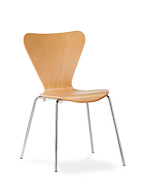 P1590S Stacking Side Restaurant Chair