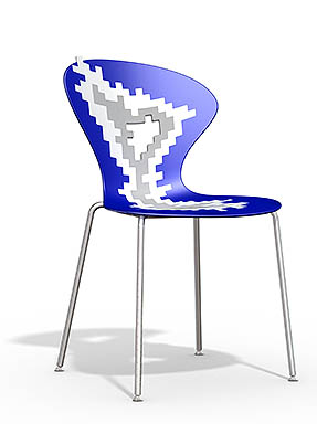 P1868S Stacking Side Restaurant Chair