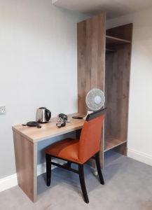 Bespoke hotel bedroom desk