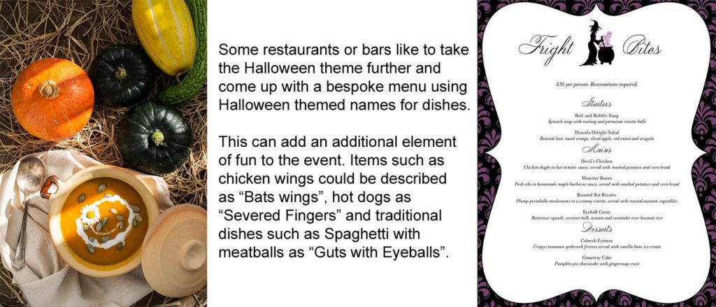 Halloween menu banner
